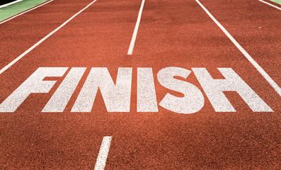 Retirement written on running track