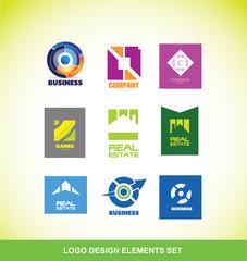 Logo elements company icon set