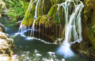 Bigar waterfall in summer.