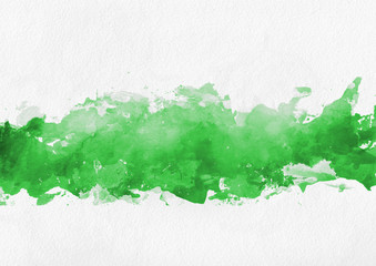 Colorful green hand painted banner