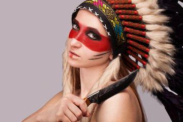 Girl red Indian.
