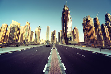 Fotomurales - road in Dubai, United Arab Emirates