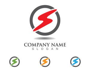 S flash letter