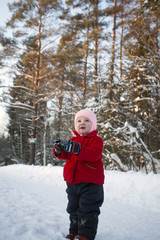 Baby Photographer in Winter Day