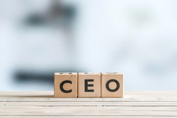 CEO title on a wooden sign