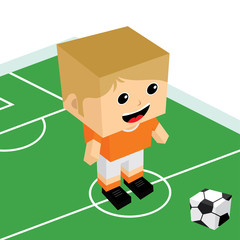 male cartoon soccer player
