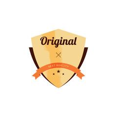 retro premium badge label