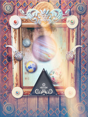 Fairytales window with planet