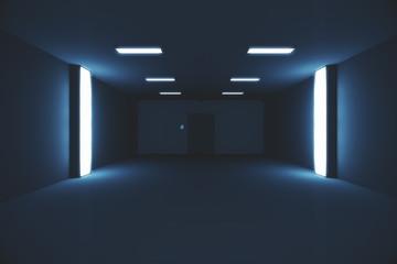 Scary Modern Dark Room