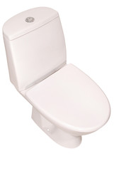 White toilet bowl  (Clipping path)