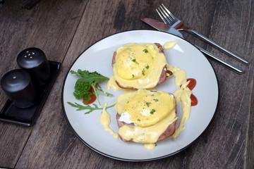 Egg Benedict all day breakfast