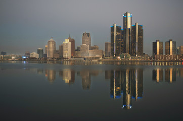 Detroit, Michigan Skyline
