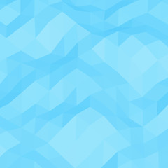 Light-blue geometric rumpled triangular low poly style vector background