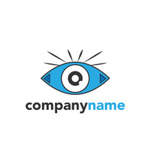 eye logo icon vector