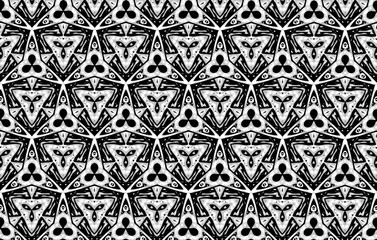 Ornament with black and white pieces. 6