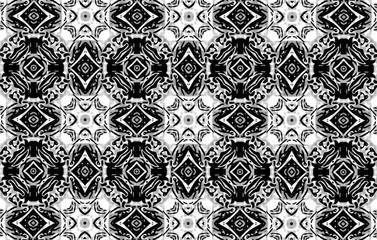 Decorative black pattern on the glass. Fantasy. 4