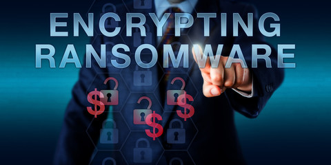 Infected User Pressing ENCRYPTING RANSOMWARE