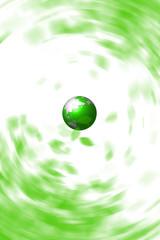 緑の地球とエコイメージ 環境維持