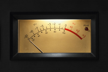 VU Meter on audio equipment