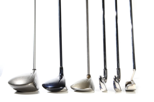 golf clubs isolated on white background