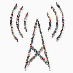 people    wi-fi internet icon