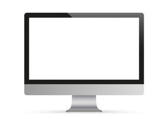 Black PC Monitor Mockup