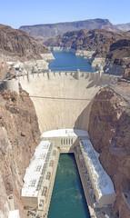 Photo sur Plexiglas Barrage Hoover Dam high quality vertical panorama, USA.