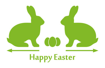 Happy Easter | Silhouettes | Vector