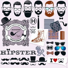 Hipster style design, artistic isolated elements