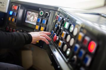 Tram driving buttons