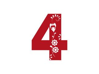 Cyfra 4, wycinanka