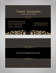 Business Card creative design, vintage, elegant style print