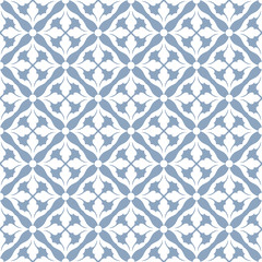 Damask beautiful background with rich, old style, blue pattern