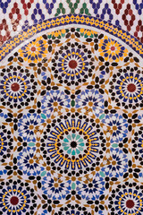 handmade Moroccan style mosaic in round shape