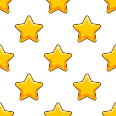 Seamless pattern with cartoon star
