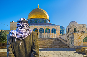 The way to the Dome of the Rock