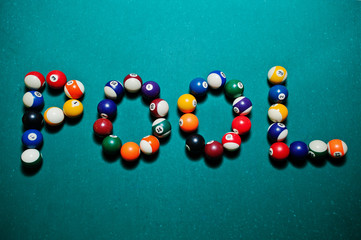 The word pool from billiard balls