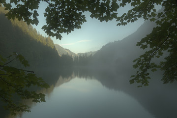 Morning in the Gosau Valley, Austria
