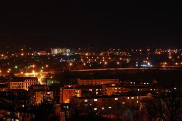 Chełm nocą