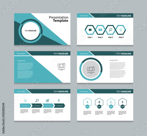business template presentation slide background design stock image