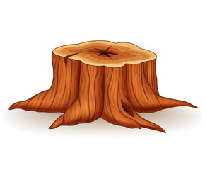 Illustration of tree stump