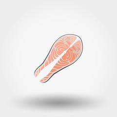 Fish steak. Icon.
