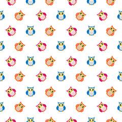 Owls cute pattern.