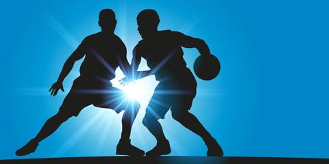 Basket - Dribble - Rayons lumineux
