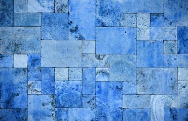 blue sandstone wall