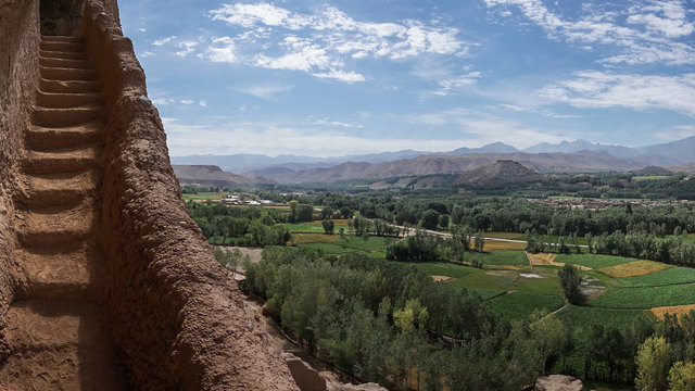 view of bamiyan valley - afghanistan