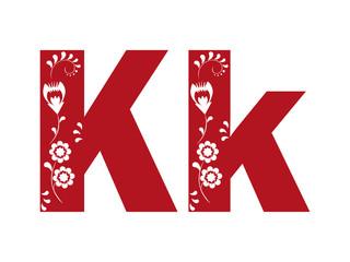 Litera k, wycinanka