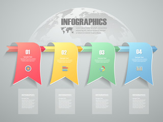 4 steps infographic template. can be used for workflow layout, diagram