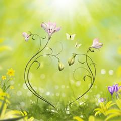 Floral Spring Heart