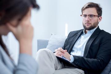 Smart handsome psychiatrist